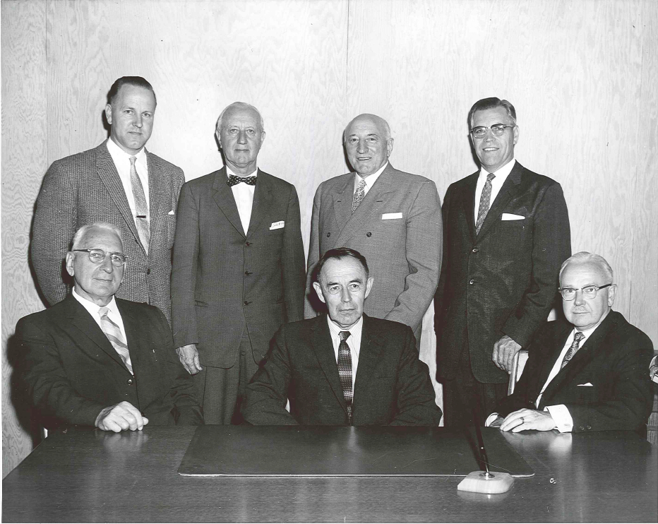 Photo taken in 1961. This is the Missionary Service Committee as it was when MSC incorporated in 1959.
